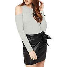 Buy Miss Selfridge PU Wrap Skirt, Black Online at johnlewis.com
