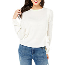 Buy Miss Selfridge Ruched Bow Jumper, Cream Online at johnlewis.com