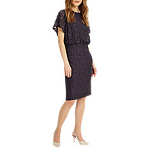 Buy Phase Eight Sandra Spot Burnout Dress, Charcoal/Black Online at johnlewis.com