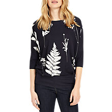 Buy Phase Eight Conway Print Top, Navy/Ivory Online at johnlewis.com