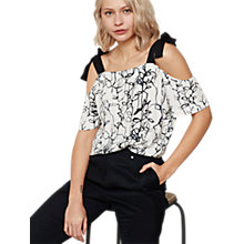 Buy Mint Velvet Dakota Print Cold Shoulder Camisole, Multi Online at johnlewis.com