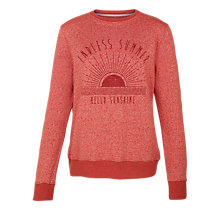 Buy Fat Face Nep Crew Neck Endless Summer Sweatshirt, Sienna Online at johnlewis.com
