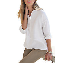 Buy Pure Collection Collared Linen Top Online at johnlewis.com