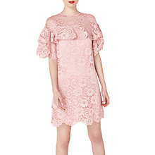 Buy Miss Selfridge Lace Dress, Lilac Online at johnlewis.com