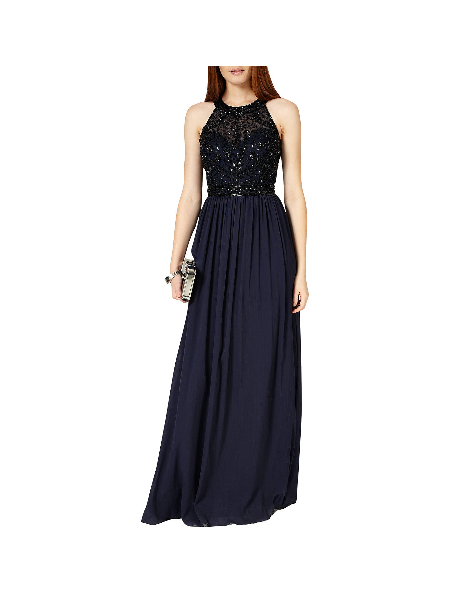 Phase Eight Collection 8 Elwyn Embellished Gown, Navy at John Lewis ...