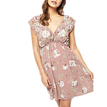 Buy Miss Selfridge Embelished Wrap Dress, Nude Online at johnlewis.com