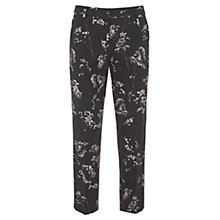 Buy Mint Velvet Erica Print Capri, Black Online at johnlewis.com