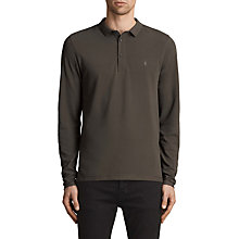 Buy AllSaints Reform Long Sleeve Polo Shirt, Military Green Online at johnlewis.com