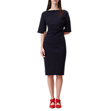 Buy Finery Ponsonby V-Back Structured Dress, Navy Online at johnlewis.com