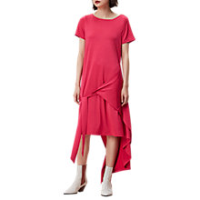 Buy Finery Silsby Wrap T-Shirt A-Line Dress, Pink Online at johnlewis.com