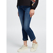 Buy 7 For All Mankind Mid Rise Bootcut Cropped Unrolled Jeans, Blue Online at johnlewis.com
