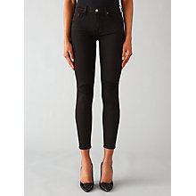 Buy 7 For All Mankind The Skinny Cropped Jeans, Rinsed Black Online at johnlewis.com