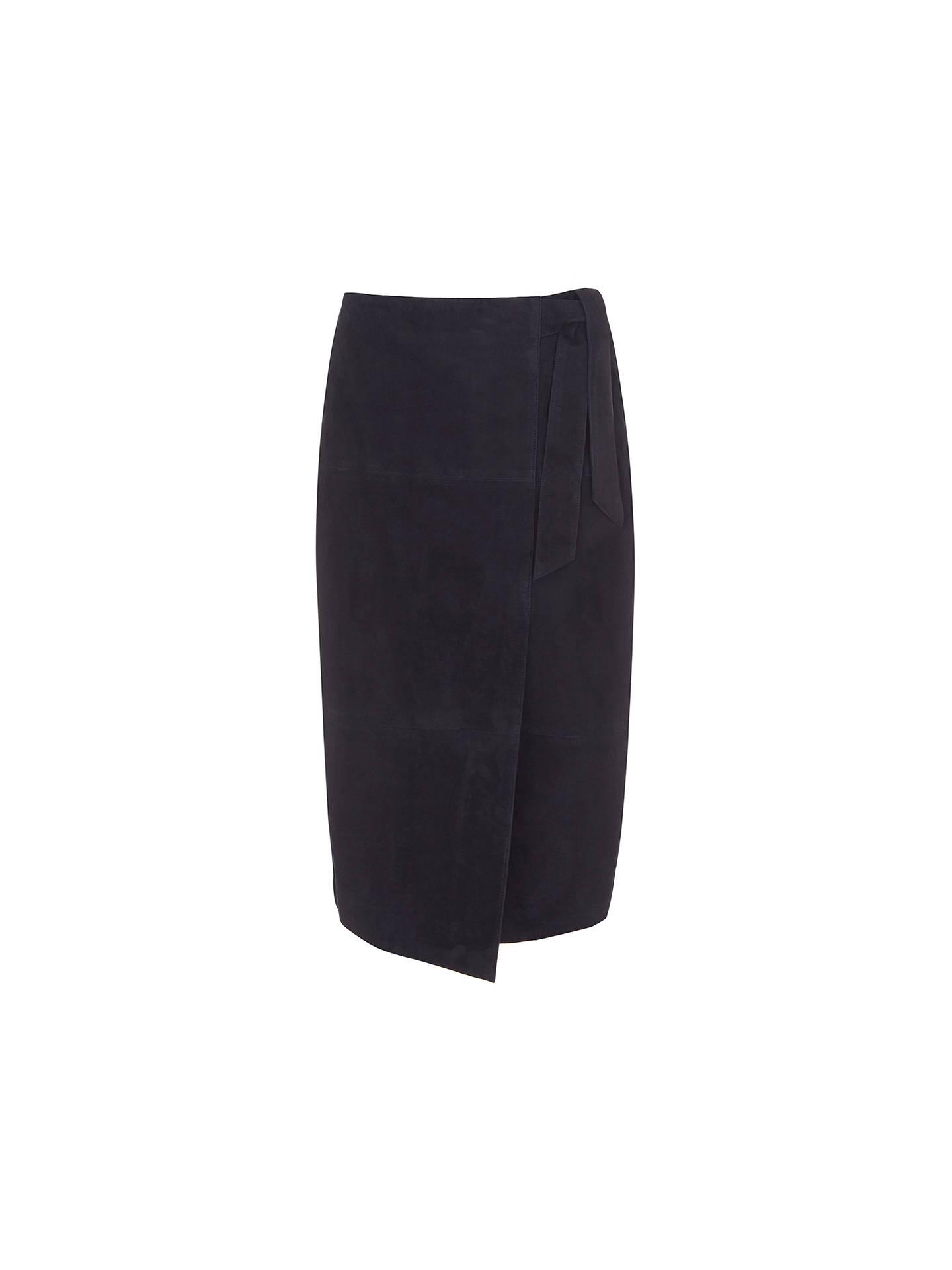 218f72083b Buy Mint Velvet Suede Wrap Midi Skirt, Ink, 6 Online at johnlewis.com ...