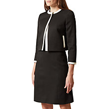 Buy Hobbs Jacquie Jacket, Black/Ivory Online at johnlewis.com