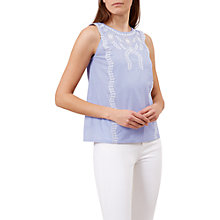 Buy Hobbs Milly Top, Chambray Blue Online at johnlewis.com