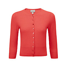 Buy Pure Collection Cashmere Twist Crop Cardigan, Coral Online at johnlewis.com