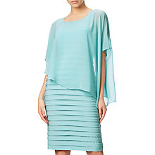 Buy Adrianna Papell Banded Dress With Chiffon Overlay, Sky Online at johnlewis.com