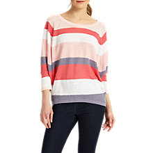 Buy Phase Eight Giorgia Stripe Linen Jumper, Pink Online at johnlewis.com