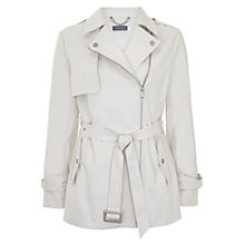 Buy Mint Velvet Cotton Trench Coat, Stone Online at johnlewis.com