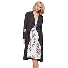 Buy Mint Velvet Smoke Duster Jacket, Dark Grey Online at johnlewis.com