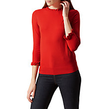 Buy Hobbs Thea Cotton Cashmere Blend Jumper, Flame Orange Online at johnlewis.com