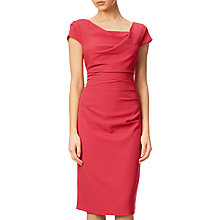 Buy Adrianna Papell Draped Cowl Neckline Sheath Dress, Flare Red Online at johnlewis.com
