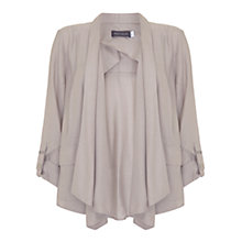 Buy Mint Velvet Drape Jacket, Oyster Online at johnlewis.com