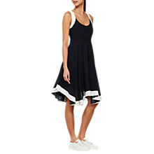 Buy Mint Velvet Blocked Asymmetric Dress, Dark Blue/Ivory Online at johnlewis.com