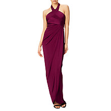 Buy Adrianna Papell Draped Jersey Gown, Cassis Online at johnlewis.com