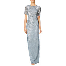 Buy Adrianna Papell Ombre Sequin Gown, Blue Heather Online at johnlewis.com
