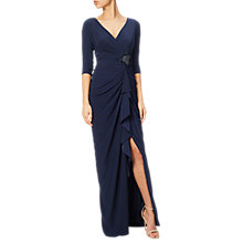 Buy Adrianna Papell Draped Matte Jersey Gown, Midnight Online at johnlewis.com