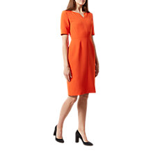 Buy Hobbs Wren Dress, Flame Orange Online at johnlewis.com