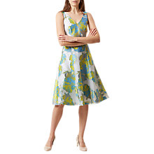 Buy Hobbs Taryn Floral Print Dress, Ivory/Multi Online at johnlewis.com