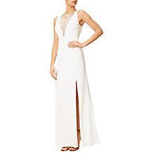 Buy Adrianna Papell Jersey Halter Neck Gown, White Online at johnlewis.com