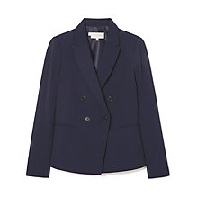 Buy Hobbs Coralyn Jacket, Navy Online at johnlewis.com