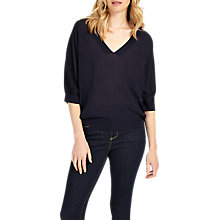 Buy Phase Eight Vittoria V-Neck Jumper, Navy Online at johnlewis.com