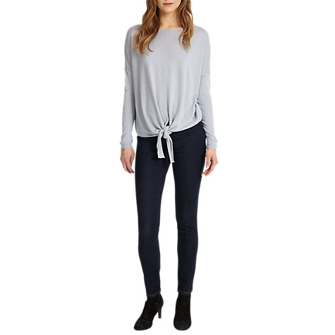 Buy Phase Eight Jolanda Tie Front Jumper, Soft Blue Online at johnlewis.com