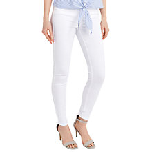 Buy Oasis Lily Stiletto Skinny Jeans, White Online at johnlewis.com