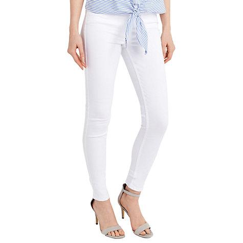Buy Oasis Lily Stiletto Skinny Jeans, White | John Lewis