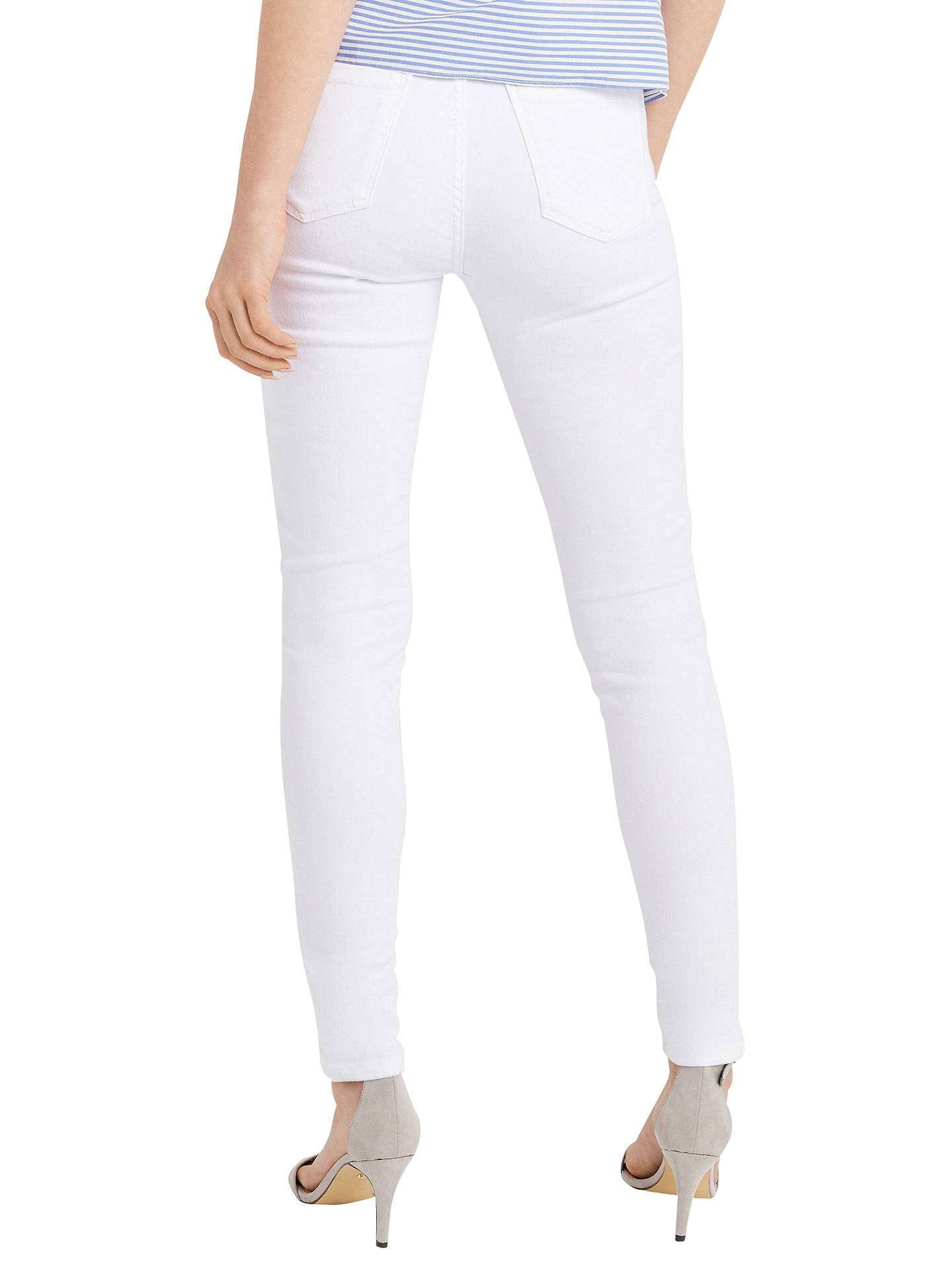 BuyOasis Lily Stiletto Skinny Jeans, White, 8 Online at johnlewis.com