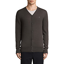 Buy AllSaints Mode Merino Button Up Cardigan, Military Brown Online at johnlewis.com