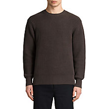 Buy AllSaints Adan Crew Neck Knitted Jumper Online at johnlewis.com