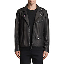 Buy AllSaints Colter Leather Biker Jacket, Black Online at johnlewis.com