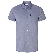 Buy Barbour Casey Short Sleeve Oxford Shirt, Navy Online at johnlewis.com