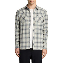 Buy AllSaints Mohave Slim Fit Check Shirt, Grey Online at johnlewis.com