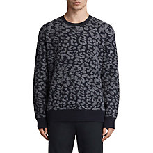 Buy AllSaints Dima Leopard Print Jumper Online at johnlewis.com