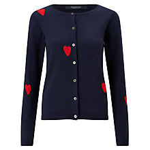 Buy Maison Scotch Heart Print Cardigan, Navy Online at johnlewis.com