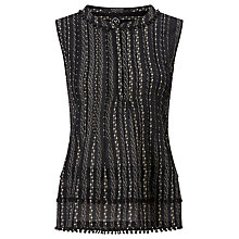 Buy Maison Scotch Sleeveless Tiered Top, Black Online at johnlewis.com