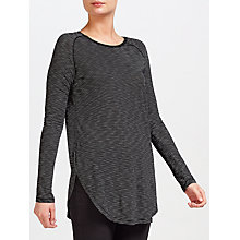 Buy Maison Scotch Long Sleeve Stripe T-Shirt, Black Online at johnlewis.com