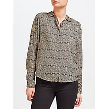 Buy Maison Scotch Paisley Print Shirt, Ecru/Black Online at johnlewis.com